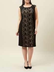 Black Jersey Lace Dress