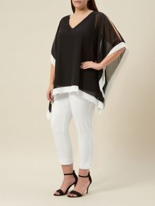 Windsmoor Black Chiffon Tunic