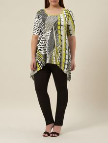 Plus Size Printed Jersey Top