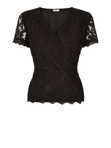 Lace Crossover Top