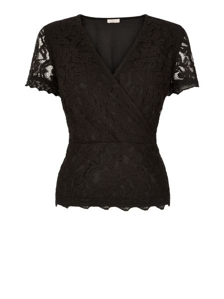 Planet Lace Crossover Top