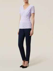 Kaliko Tiered Lace Jersey Top