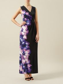 Placement Print Maxi Dress