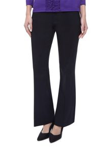 Black Straight Leg Zip Trouser