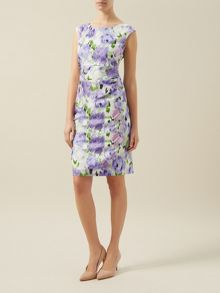 Blurred Floral Shift Dress
