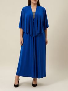 Plus Size Royal Blue Cover Up