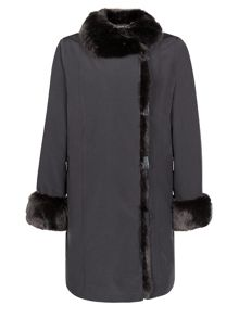 Fur Placket & Collar Jacket