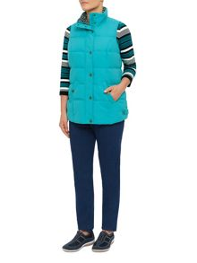 Peached gilet teal