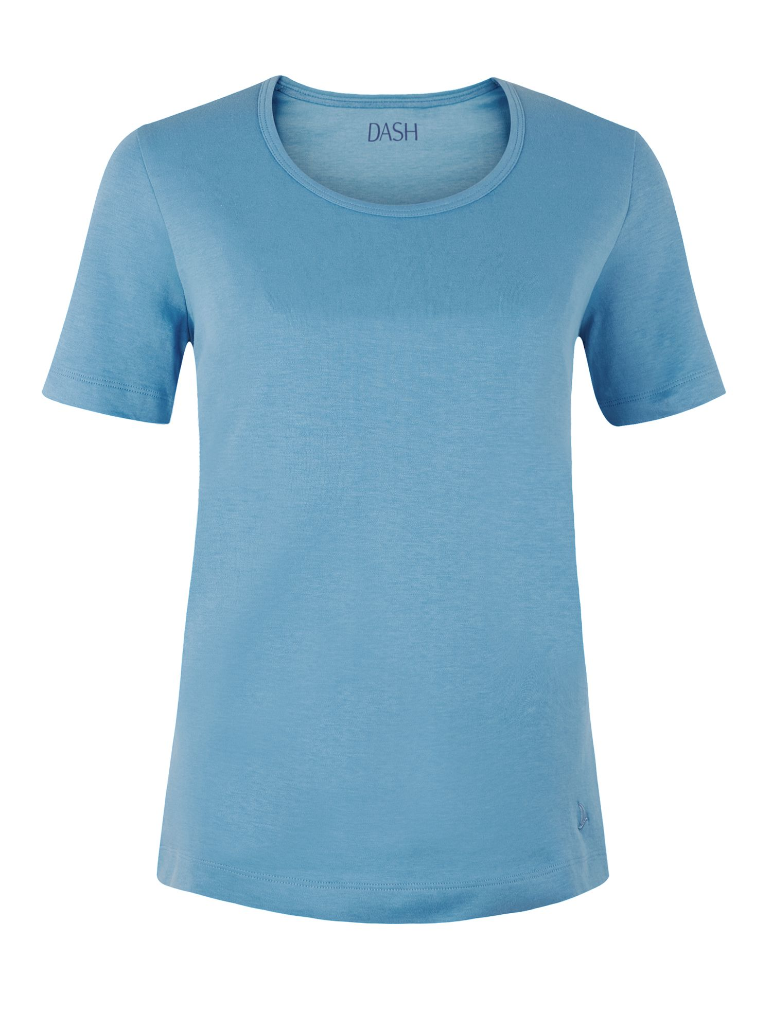 Dash Short Sleeve Wedwood Scoop Neck, Mid Blue