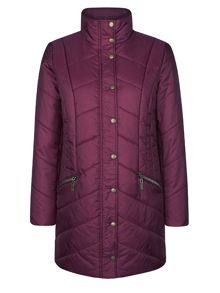 Dash 3/4 length quilted coat