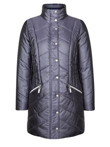 Dash 3/4 length quited coat