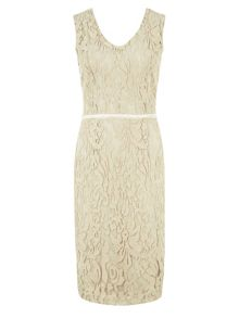 Kaliko Lace v neck shift dress