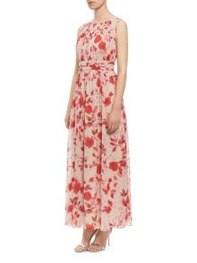Oriental Bloom Maxi Dress