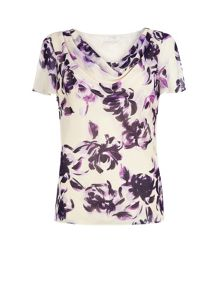 Soft Rose Print Top
