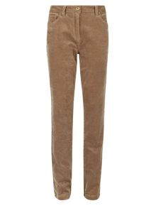 Dash Dark stone cord trouser long
