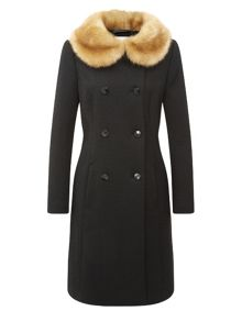 Vintage Faux Collar Coat