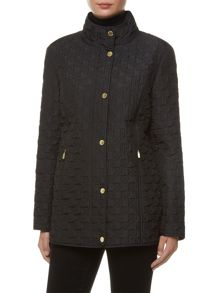 Windsmoor Black Dogtooth Short Raincoat
