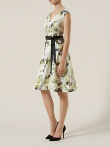 Outline Floral Print Dress