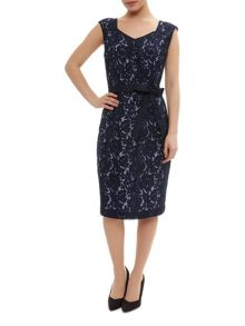 Lace Overlay Shift Dresss
