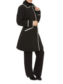 Precis Petite Long Tipped Quilted Coat