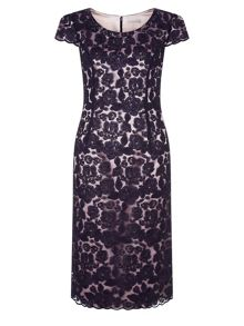 Corded Lace 2 Tone Dress