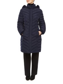Long Fur Quilted Coat
