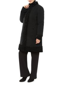 Long Faux Fur Nylon Coat
