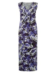 Purple Printed Maxi Dress