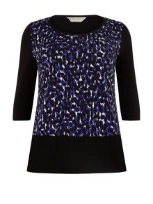 Purple Print Asymmetric Top