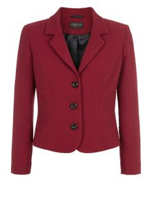Red textured ponte jacket