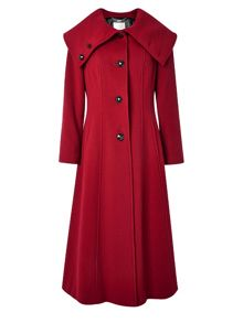 Long Fit And Flare Dress Coat
