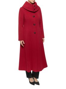Jacques Vert Long Fit And Flare Dress Coat