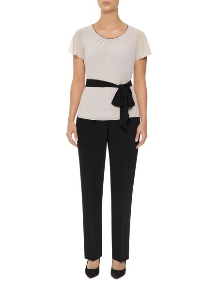 Jacques Vert Textured Belted Blouse