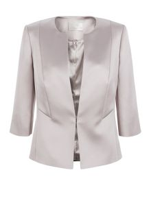 Jacques Vert Sateen Edge To Edge Jacket