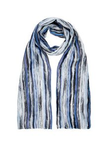 Crinkle watercolour scarf