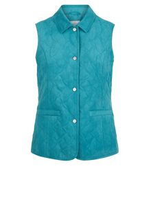 Abstract leaf quilt gilet