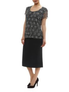 Tailored Fit Flare Skirt