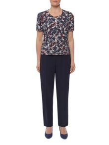 Graphic Marguerite Print Top