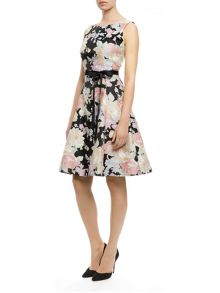 Floral Burnout Prom Dress