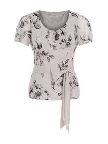 Petite Soft Etched Floral Top