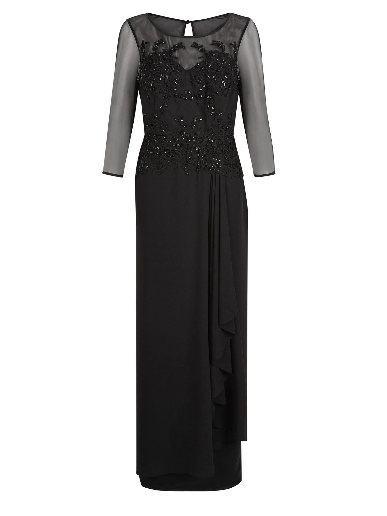 Jacques Vert Embellished Glamourous Maxi Dress $239.20 AT vintagedancer.com