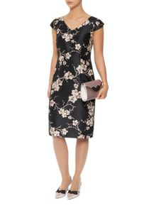 All Over Orchid Print Dress