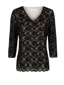 Contrast Lining Lace Top