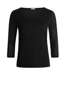 Planet Black Textured Top