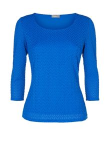 Blue Wave Textured Top