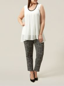 Windsmoor Sleeveless Ivory Floaty Top