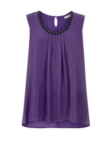 Purple Embellished Floaty Top