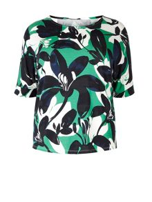 Windsmoor Flower Print Jersey Top
