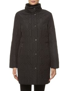 Windsmoor Mid Black Hexagon Quilt Coat