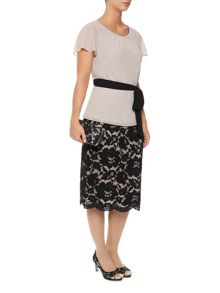 Opulent Lace Pencil Skirt